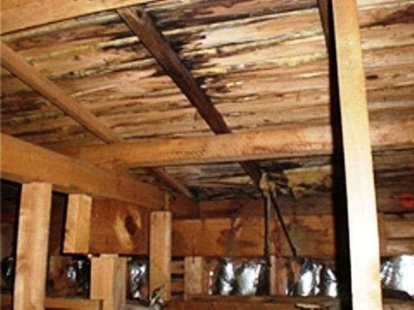 雨漏りする天井